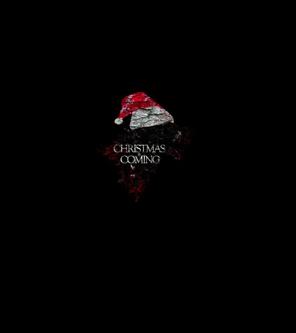 christmas is coming minta sötétkék pólón 23fcdf47cf