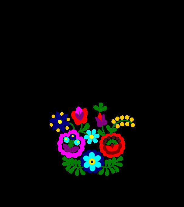bc868a17d5 Matyó - Szentistváni virágok minta narancssárga pólón